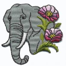 ELEPHANT (5) motif thermocollant