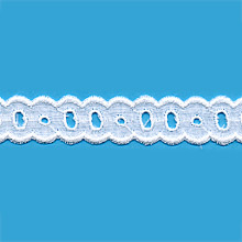 Broderie anglaise 100 % coton de 15mm