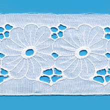 Broderie anglaise 100 % coton de 80mm