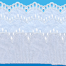 Broderie anglaise 100 % coton de 190mm
