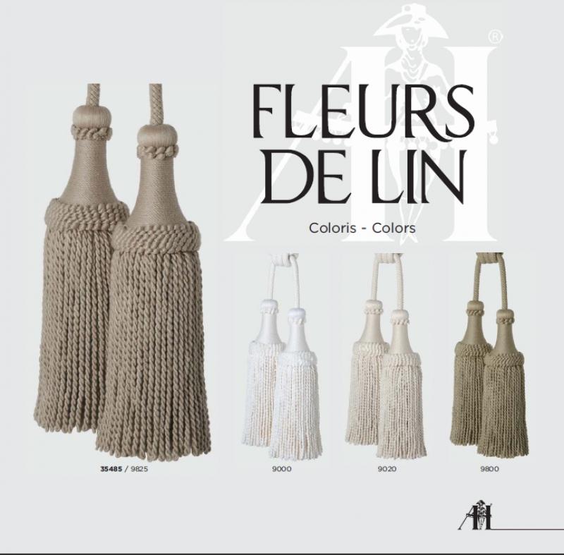 mercerie en ligne tous les accessoires de coutures embrasse fleurs de lin en 100cm 2. Black Bedroom Furniture Sets. Home Design Ideas