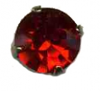bouton strass rouge 14mm