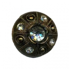 bouton viel or avec Strass 23 mm