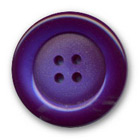 Bouton violet polyester bord brillant centre satiné 14 mm