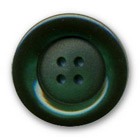 Bouton vert polyester bord brillant centre satiné 14,18,22,27 mm