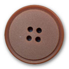 Bouton en polyester marron clair en 14,18,22,27 mm