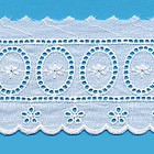 Broderie anglaise 100 % coton de 70mm